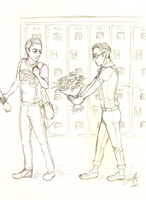 Cheerio!Kurt + Nerd!Blaine by Ricoka