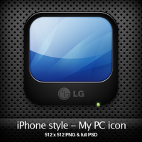 iPhone style - My PC icon by YaroManzarek