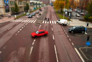 Tilt shift Sundsvall by palmovish