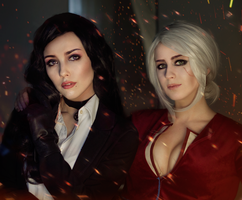 Yennefer and Ciri by Helen-Stifler