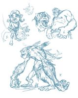 troll sketches2 by dron111