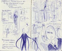 Slender Man doodles by Clorin-Spats