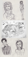 Doctor Who sketch dump by Ryvienna