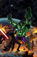 Darth Vader vs Hulk by pyroglyphics1