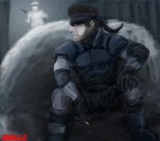 Solid Snake by EricHollobaughArt