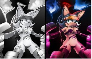 rouge the bat +future warrior+ by ArchiveN