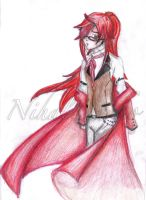 The red dressed shinigami by NihalDarko