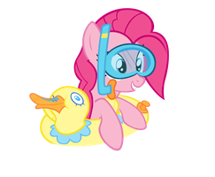Pinkie Pie In The Pool! by DrLonePony