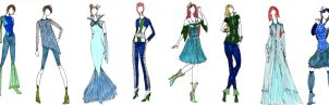 Aquatica Collection : Fashion Design by mitsuki0tennyo