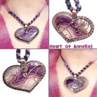 Heart of Annelies Agate Pendant by popnicute