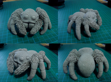 Jumping Spider Sculpture by xiShadowWolfx