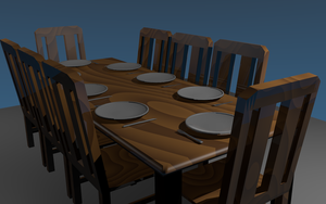 3D Model Dining Table by AfterField