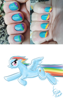 Rainbow Nails by Natizilda