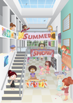 summer show poster by papier-puppe