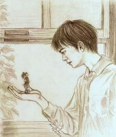 Arrietty and Sho by angelvi