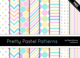 Pretty Pastel Patterns by MysticEmma