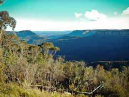 Blue Mountains II by Ajumska