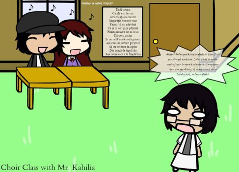 Choir Class with Mr. Kahilia by Weasels777