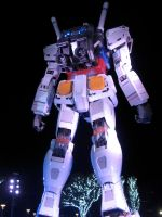 Gundam Night Shot -- Rear by yapi