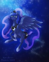 Princess Luna Stargazing by MadArtistParadise