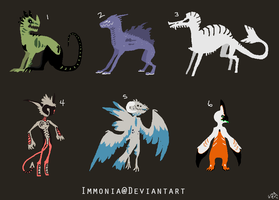 Mixed Creature Adopts 74 [Point Option Included!] by Adopt-Monstar