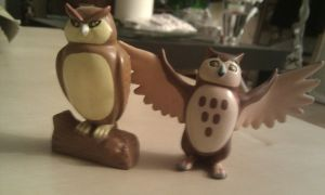 Farthing wood Hornby Owls by CrocodileRawk