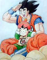 Goku and gohan :D by RanCh000