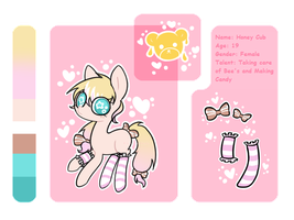 :CE: Reference Sheet - Honey Cub by KawaiiChuuAdopts