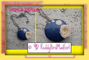 Soft Blue Set: Necklace by ReddyBirdMadGirl