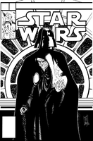 STAR WARS Mock Marvel Cover #2 Pen and Ink by Hodges-Art