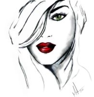 Woman Face by mvgraphics