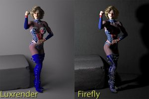 Comparison of Luxrender and Poser by MollyFootman
