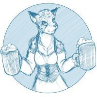 Sketchithon 11 - Khajiit Tavern Maid by Twokinds