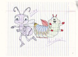 Dot and Heimlich by strangmusicobsession