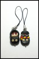 Death Eater and Harry Chibi Cell Phone Strap by CookingMaru