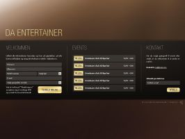 Da-Entertainer - Webdesign 2 by Noergaard