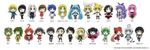 Chibi Vocaloid All Star by Sartika3091