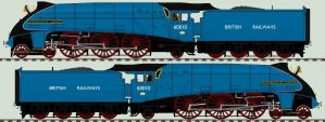 LNER A4 liveries - 60010 'Dominion of Canada' by 2509-Silverlink