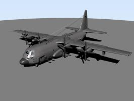 AC-130H Specter Gunship by OutcastOne