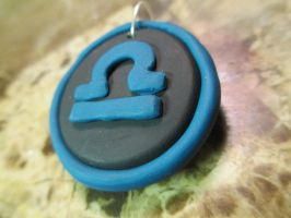 Clay Terezi Pyrope Necklace Pendant by DemigodWarriorWizard