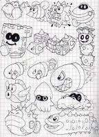 Super Mario 3D Land Enemies Doodles (Part 2) by SuperLakitu