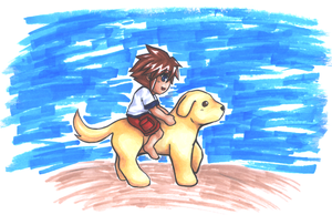 Sora and His Dog by Miina-san