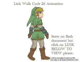 Link Walk Cycle 2d Animation by Rinkuchan27