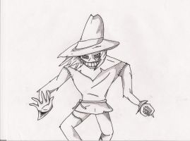 Scarecrow UNCOLORED by JokerAgentChaos