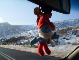 Papa Smurf in Snowdonia by UncleGargy
