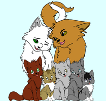 Lionblaze and Icefur Family by Paintpaw
