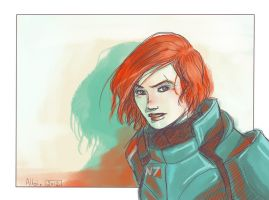 Commander Shepard by aureliebm