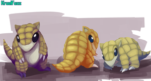 Art trade: Sandshrew by KruelFoxx