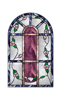 Faux Stained Glass Flower Stock by Viktoria-Lyn
