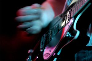 Guitarist in action by sharq